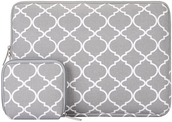 Mosiso Quatrefoil Style Laptop Sleeve Bag